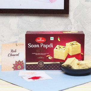 Soan Papdi Ke Sang - 500gm Soan Papdi with Complementary Roli Chawal