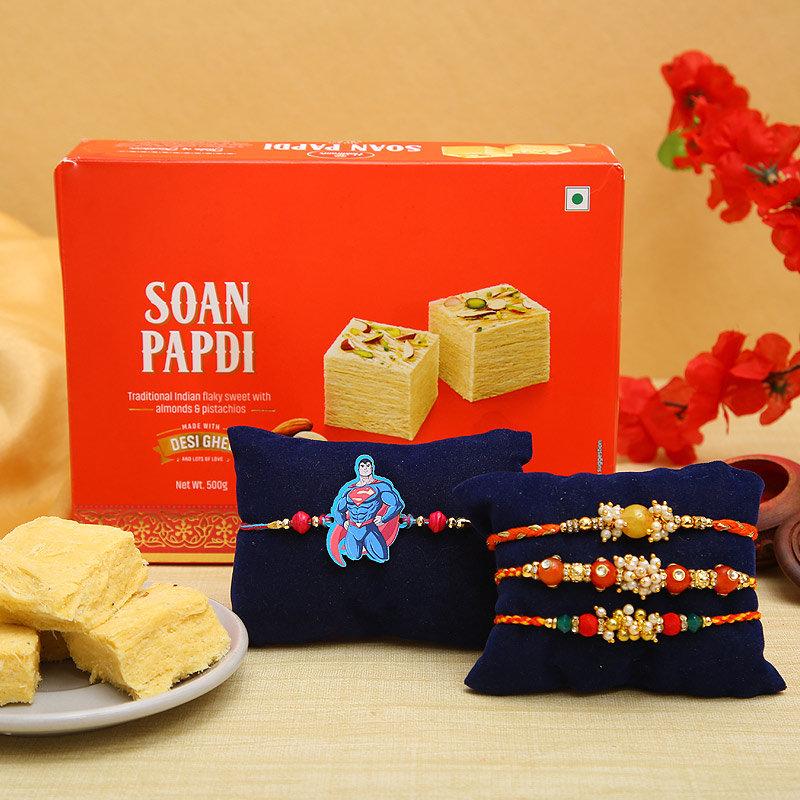 Soan Papdi Rakhi Delights