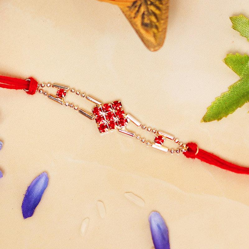 Sparkly Red Elegant Rakhi