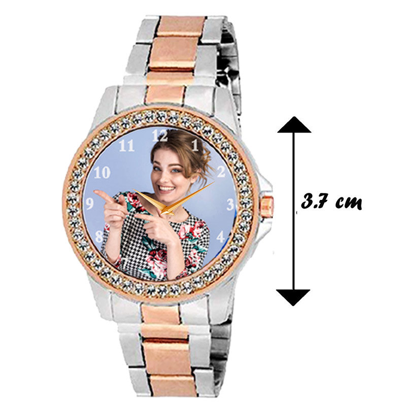 Dimension of Copper and Silver Colour Custom Wrist Watch for Ladies