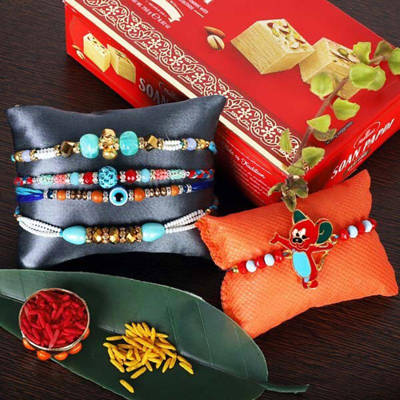 Special Rakhi And Soan Papdi Set