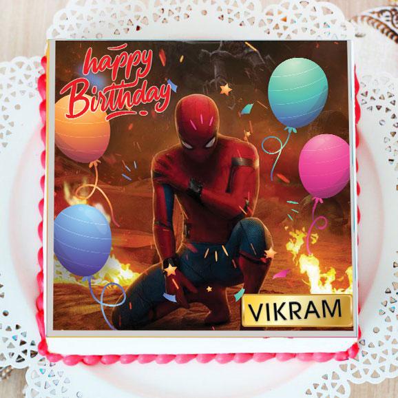 Spider Man Birthday Poster Cake