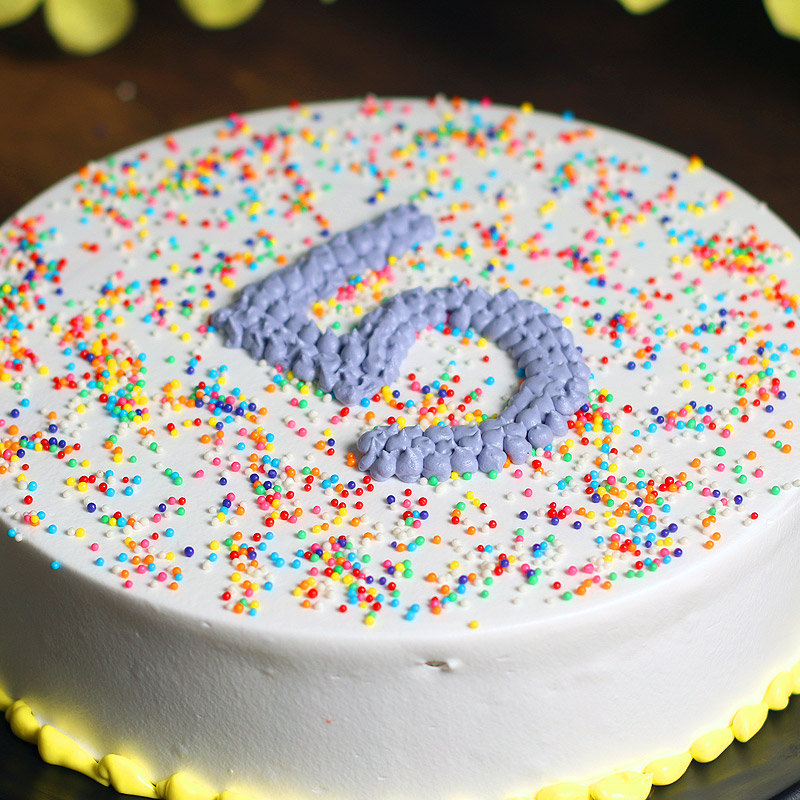 Side view of Fifth Birthday Cake