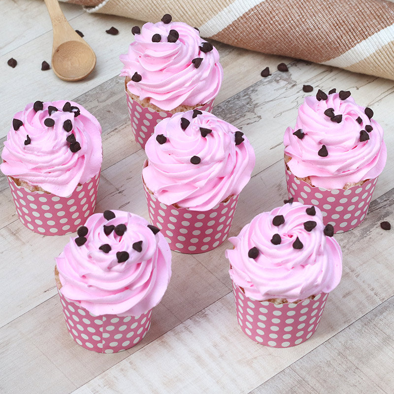 Strawberry Choco Chip Cup Cakes
