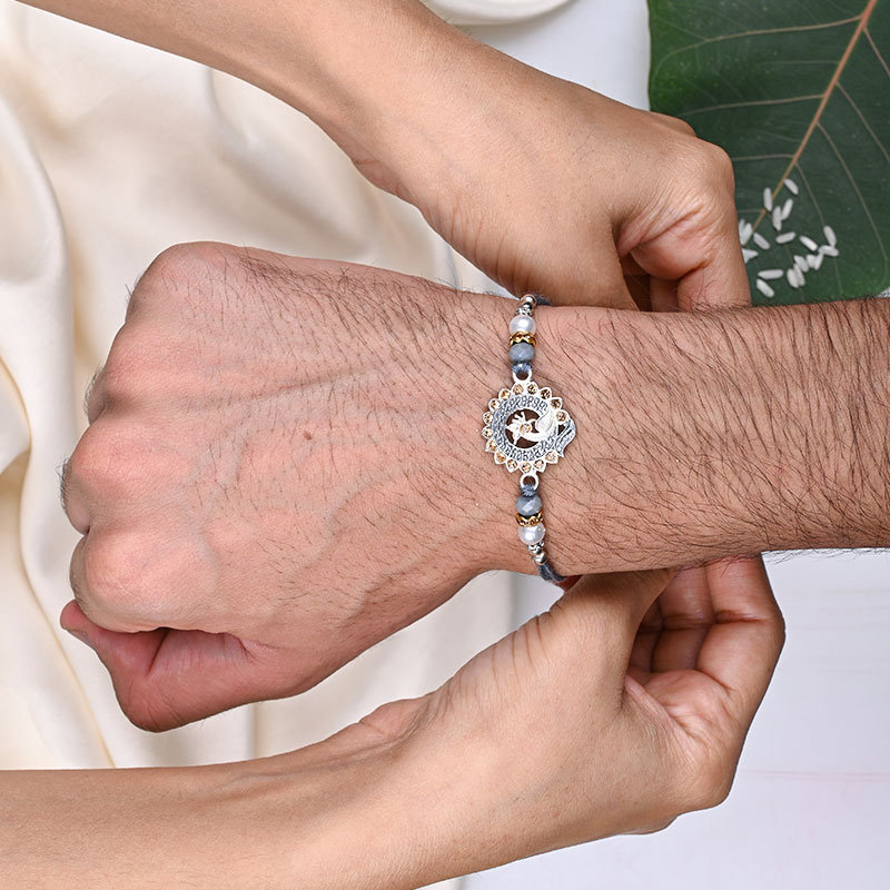Pure Silver Rakhi Online Delivery