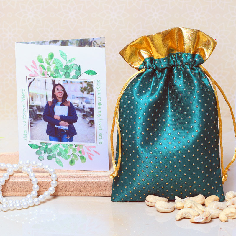 Personalised Greeting Card with Dry Fruits