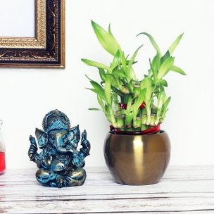 2 Layer Bamboo With Ganesha in a Vase