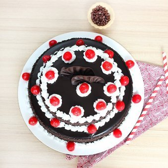2 Tier Black Forest Cake 3 KG with Top View