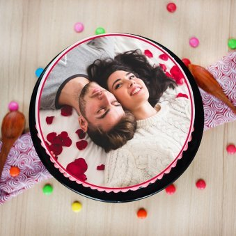 Photo Cake Top view