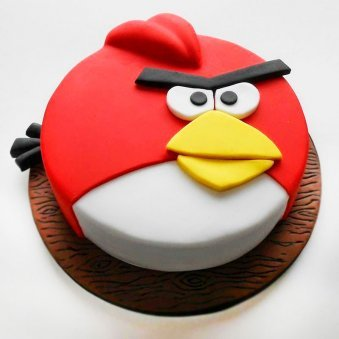 Angry Birds Theme Fondant Cake