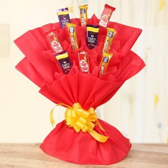 Chocolate Day Special - Combo of 3 types of chocolates in a bouquet