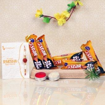 Rakhi with 5 Star Chocolates