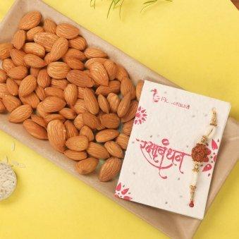 Rakhi with Half Kg Almonds