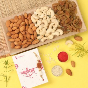 rakhi with dry fruit for brother express