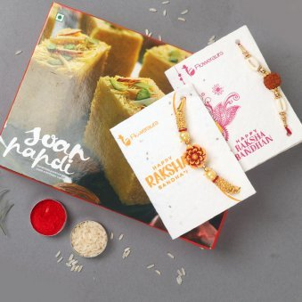 Two Rakhis with One Kg Soan Papdi