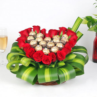 Rose Choc Valentine Arrangement