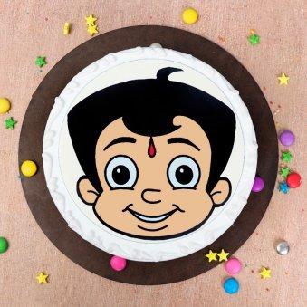 Chhota Bheem Cake -Top View