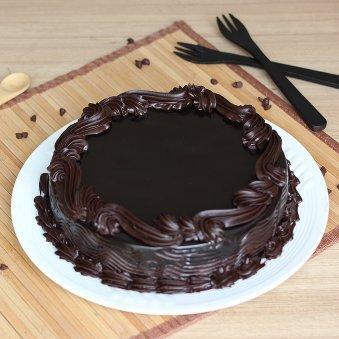 Dark Choco Black Forest Valentines Cake
