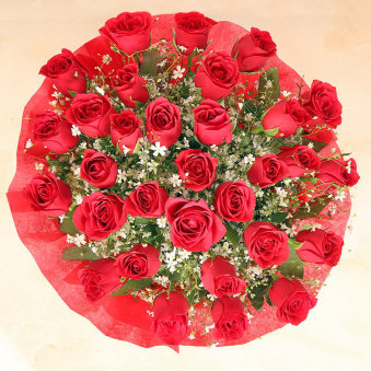 Bunch Of Red Roses for Rose Day Gift