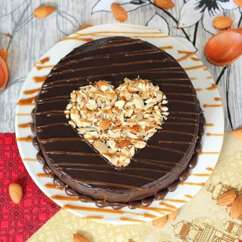 Appetizing Choco Cake with Top View