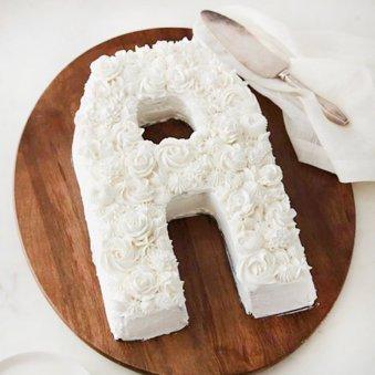 Alphabet A Designer Cake