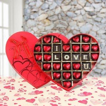 Heart Shaped Love You Chocolates