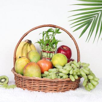 Bamboo Fruit Basket Hamper