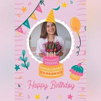 Custom Happy Birthday Greeting Cards