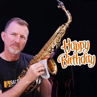 Happy B'day Surprise With Saxophone Song