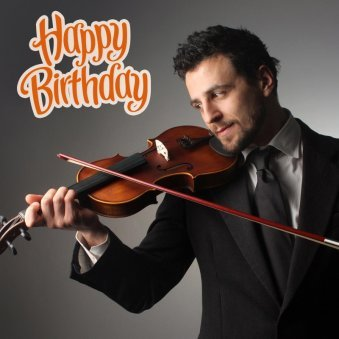 Happy B'day Surprise With Violinist