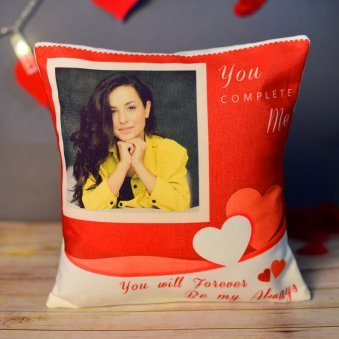 Cute Personalised Photo Cushion Gift for Your Partner
