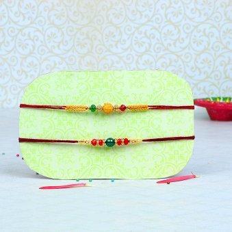 Bead Rakhi Set - Set of Two Rakhis