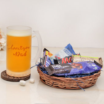 Beer N Basket Combo For Father's Day