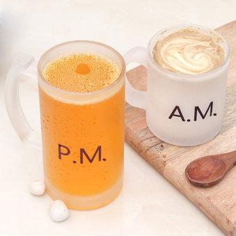 Fathers Day Beer N Coffee Mug Combo Set