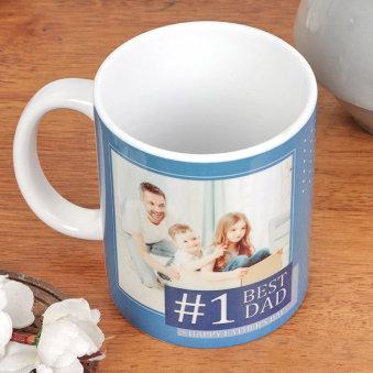 Simple Fathers Day customisable white mug