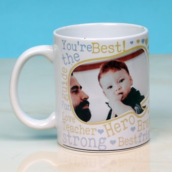 Best Father's Day Gift - Personalised White Ceramic Mug