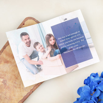 Best Dad Personalised Fathers Day Gift Card