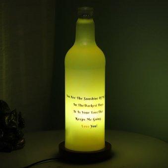 Personalised Bottle Lamp Gift