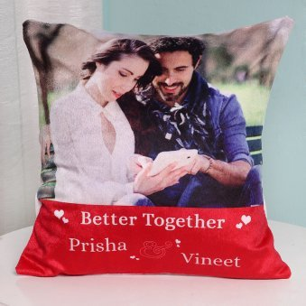 Better Together Personalised Printed Cushion