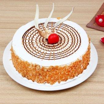 Half kg butterscotch cake - 2nd gift of Blooming Butterscotch Combo
