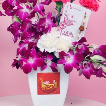 Blossoming Choco Rakhi
