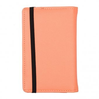 Side View of Custom Passport Wallet with Bow