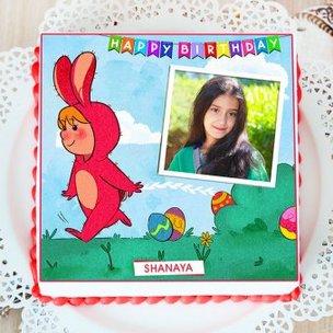 Bunny Girl Birthday Cake