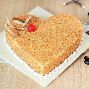 Butterscotch Fondness Cake with Normal View