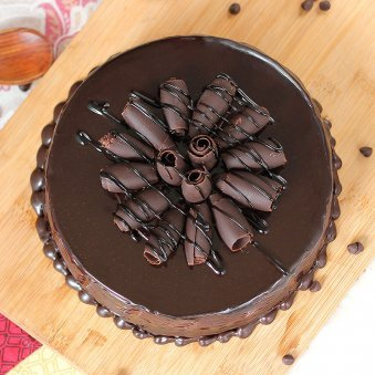 Captivating Choco -Truffle Cake with Top View