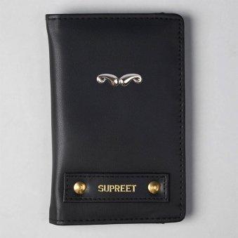 Carbon Black Passport Wallet