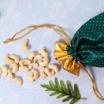 Cashew Metallic Rakhi Combo - Rakhi with Gifts Online
