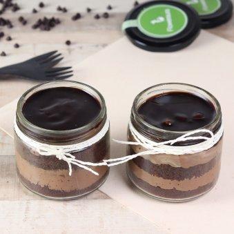 Pair of Choco Mousse Jar Cake
