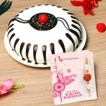 Choco Vanilla Cake with Rakhi