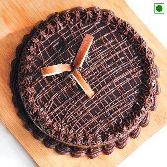 Eggless Chocolate Truffle - Top View